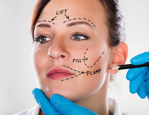 Physical examination for Face lift