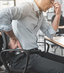 Discomfort while sitting
